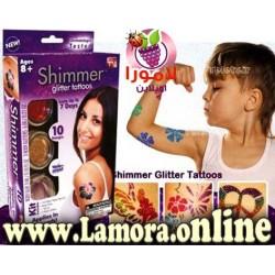 تاتو الجليتر شيمر للجسم  shimmer glitter tattoos